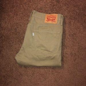 Levi's Khaki 511 Slim Fit Jeans NWOT 36x32